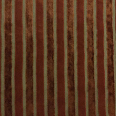 Bars Velvet Stripe - Rust 36 Decorative Fabric by Home Secrets, Upholstery, Drapery, Home Accent, Home Secrets,  Savvy Swatch