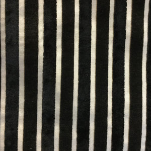 Bars Velvet Stripe - Black 2 Decorative Fabric by Home Secrets, Upholstery, Drapery, Home Accent, Home Secrets,  Savvy Swatch