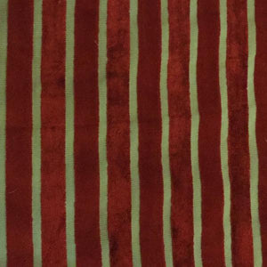 Bars Velvet Stripe - Scarlet - 12 Decorative Fabric by Home Secrets, Upholstery, Drapery, Home Accent, Home Secrets,  Savvy Swatch