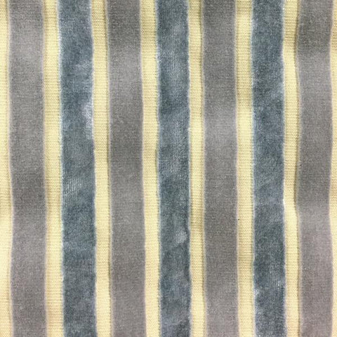 Bars Velvet Stripe- Blue Silver -52 Decorative Fabric by Home Secrets, Upholstery, Drapery, Home Accent, Home Secrets,  Savvy Swatch