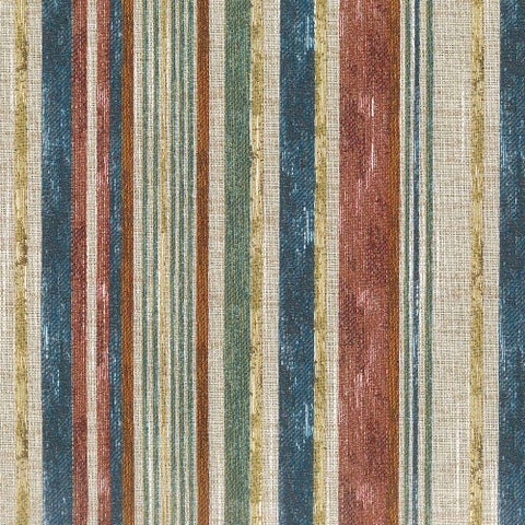 Regal Fabrics Buoys Stripe Multi-Color Textured Stripe, Upholstery, Drapery, Home Accent, Savvy Swatch,  Savvy Swatch