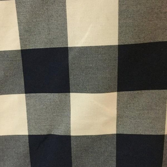 Al Fresco Altizer Hatteras Navy Check High UV Woven Polyester Indoor/Outdoor Decorator Fabric, Upholstery, Drapery, Home Accent, Al Fresco,  Savvy Swatch