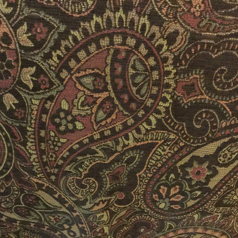 T & E Fabrics Brown Paisley Home Decorator Fabric, Upholstery, Drapery, Home Accent, T & E Fabrics,  Savvy Swatch
