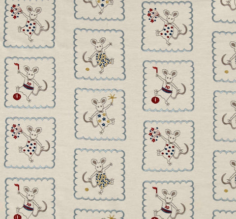 Golding Merry Mice Embroidery Decorator Fabric, Drapery, Home Accent, Golding,  Savvy Swatch