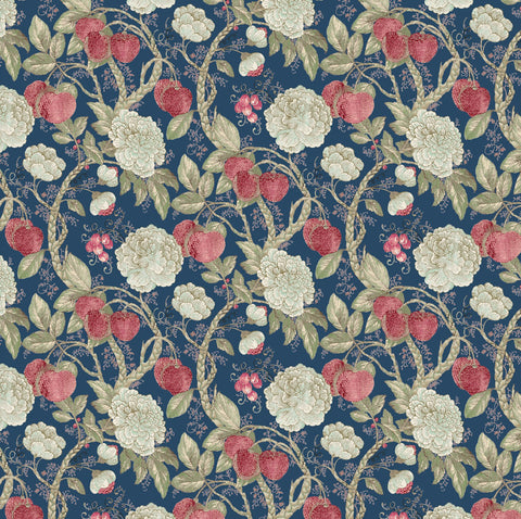 Edinburgh Weavers Morris Navy Decorator Fabric, Upholstery, Drapery, Home Accent, Edinburgh Weavers,  Savvy Swatch