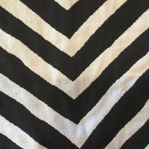 Al Fresco Altizer Chevey Black High UV Woven Polyester Indoor/Outdoor Decorator Fabric, Indoor/Outdoor, Al Fresco,  Savvy Swatch