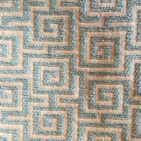 JLA Hermes Waterfall Greek Key Decorator Fabric, Upholstery, Drapery, Home Accent, JLA Fabrics,  Savvy Swatch