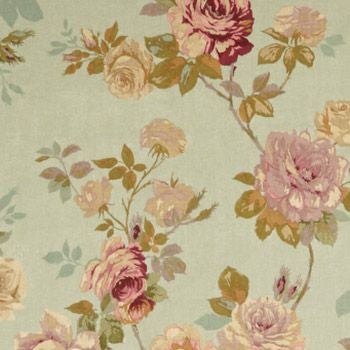 After the Rain English Rose Old Blue Decorator Fabric by Edinburgh Weavers, Upholstery, Drapery, Home Accent, Edinburgh Weavers,  Savvy Swatch
