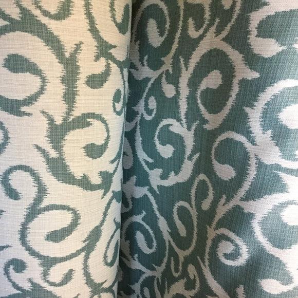Outdura Chateau Ocean Decorator Indoor/Outdoor Fabric, Upholstery, Drapery, Home Accent, TNT,  Savvy Swatch