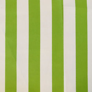 "Sunfield 3s10 Stripe Canvas Lime 1"" Indoor Outdoor 100% Solution Dyed Acrylic Fabric"