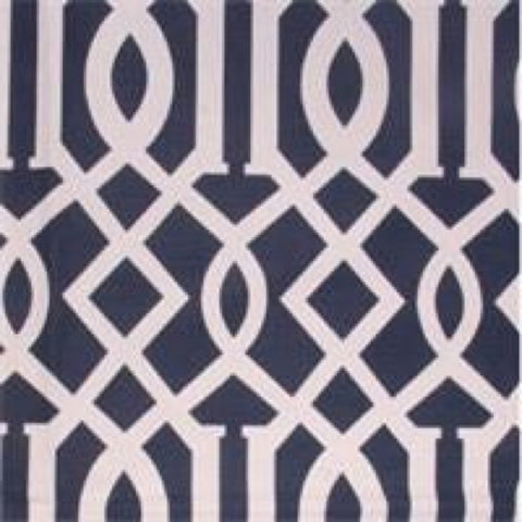 Trellis Lagoon Integrate Blue Geometric Cotton Drapery Fabric by Richloom, Drapery, Home Accent, Richloom,  Savvy Swatch