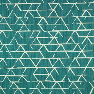 Richloom Fortress Acrylic Kengo Turquoise Indoor Outdoor Fabric, Upholstery, Drapery, Home Accent, TNT,  Savvy Swatch