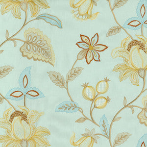 "Williamsburg Upholstery Fabric 52"" Kerala Embroidery Moonstone, Upholstery, Drapery, Home Accent, P/K Lifestyles,  Savvy Swatch"
