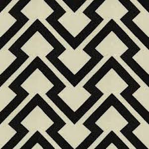 Brunschwig & Fils/Lee Jofa Lightning Bolt in Black Fabric (2.5 yd piece), Upholstery, Drapery, Home Accent, Lee Jofa,  Savvy Swatch