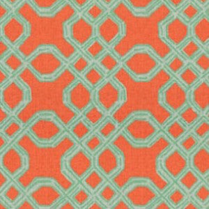 Lilly Well Connected Aqua / Orange 2011101-125, Upholstery, Drapery, Home Accent, Kravet,  Savvy Swatch
