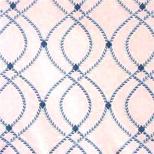 Lumi Marine Aria Embroidered Fabric