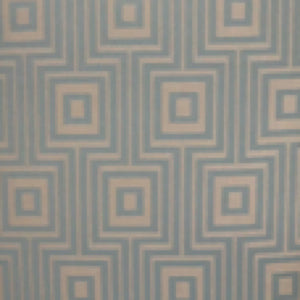Maze Geometric Spa and Gold Decorator fabric, Drapery, Home Accent, Light Upholstery, Savvy Swatch,  Savvy Swatch