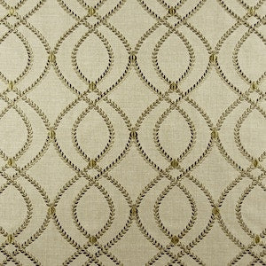 Lumi Pear Aria Embroidered Lattice Fabric
