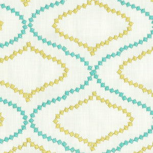 Dena Home Fabric Day Trip Embroidered DD Reef 900180, Upholstery, Drapery, Home Accent, Greenhouse,  Savvy Swatch