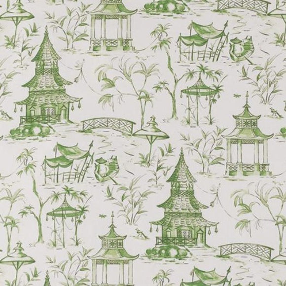 Lacefield Pagodas Jade Decorator Fabric, Drapery, Home Accent, Lacefield,  Savvy Swatch