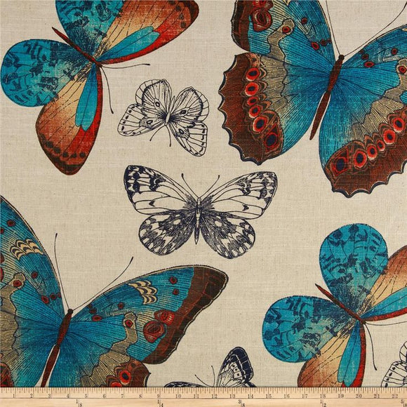Renaldi Madame Butterfly Turquoise, Upholstery, Drapery, Home Accent, Pentex,  Savvy Swatch