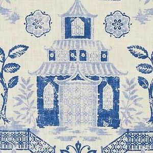 3.9 Yard Piece of Richloom Teahouse Blue