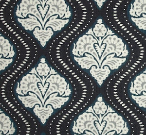 1.4 Yard Piece of Robert Allen Kavali Ogee in Midnight Blue