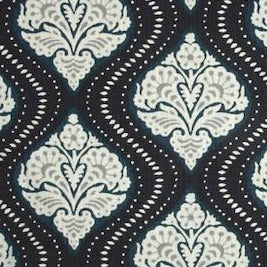 2.4 Yard Piece of Robert Allen Kavali Ogee in Midnight Blue