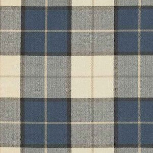 Washington Cobalt Herringbone Check Fabric