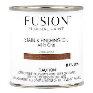 Cappuccino Stain & Finishing Oil All in One Wood Finish - Fusion Mineral Paint