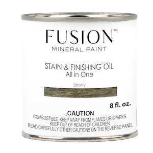 Ebony Stain & Finishing Oil All in One Wood Finish - Fusion Mineral Paint