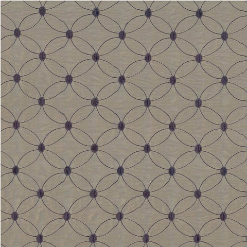 Simpson Soliloquy Pewter and Navy Decorator Fabric by ATI