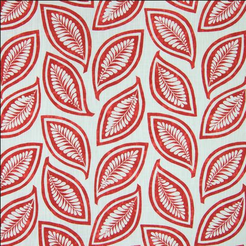 Leaf For Ever Caleb Scarlet 204191 Decorator Fabric by P Kaufmann