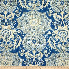 Williamsburg Shalimar Ink Decorator Fabric 7.7 yards