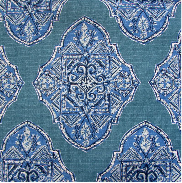 Lacefield Malta Cyan Decorator Fabric