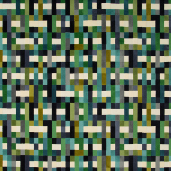 2.3 Yards Kravet Couture Epingle Abstract Moment Peacock 34916.315