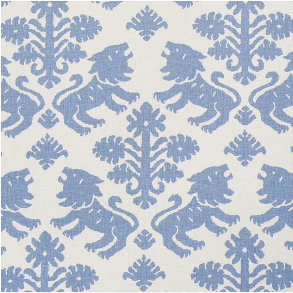 1.7 Yards Schumacher Regalia Blue 177300 Decorator Fabric