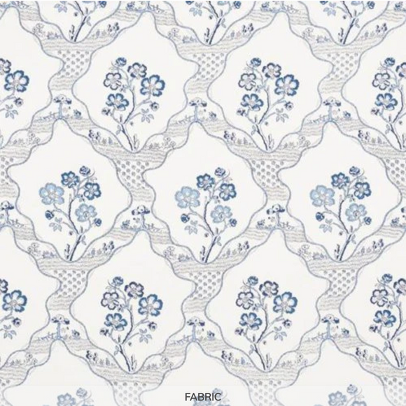 3.3 Yards of Schumacher Marella Delft Fabric Printed Decorator Fabric