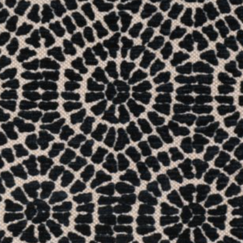 Regan Ebony Decorator Fabric by Microfibres