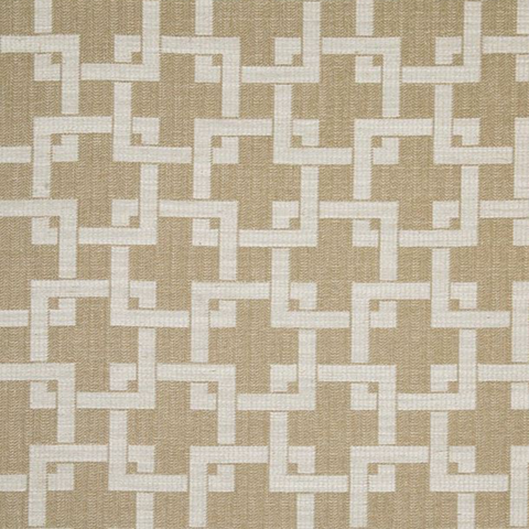 Maoming Straw Decorator Fabric by Kasmir Fabrics Naval Geo Flax, Upholstery, Drapery, Home Accent, Swavelle Millcreek,  Savvy Swatch