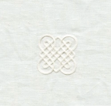 Celtic Knots  Universe Snow Embroidered Sheer Guillaume Snow 100% Linen Fabric, Upholstery, Drapery, Home Accent, LA Freds,  Savvy Swatch