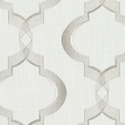 B2184 Marble Greenhouse Neutral Contemporary Lattice Modern Scrollwork Emb Fabric, Upholstery, Drapery, Home Accent, Greenhouse,  Savvy Swatch
