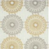 Kittery Fabric Embroidered Pearl Decorator Fabric (Greenhouse A1833)