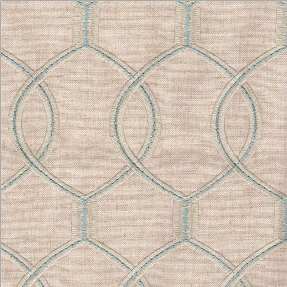 Richloom Slalom Mineral Embroidered Linen Blend Hourglass Mineral Fabric, Upholstery, Drapery, Home Accent, TNT,  Savvy Swatch
