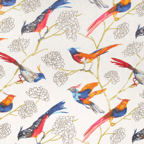 P Kaufmann Take Flight Firecracker Fabric, Upholstery, Drapery, Home Accent, Carolina Decorative Fabrics,  Savvy Swatch