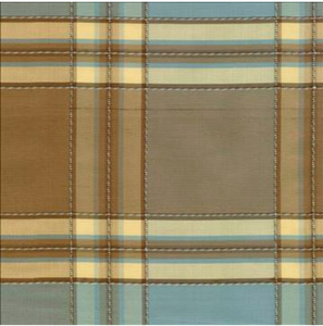 Silk Craft Alem 2040 Ocean Plaid Silk Decorator Fabric, Upholstery, Drapery, Home Accent, Silk Crafts,  Savvy Swatch