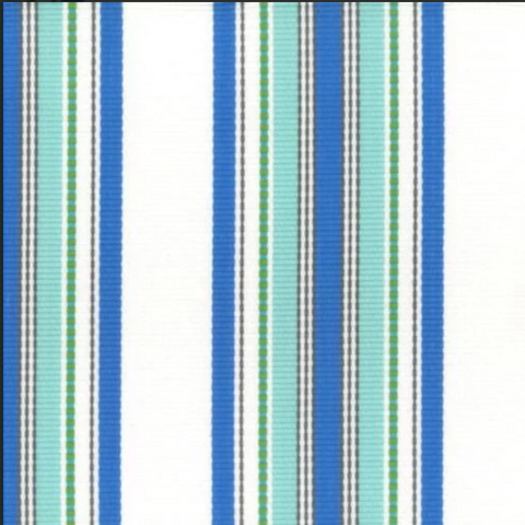 Sunbrella Dellwood Seaside Fiesta Decorator Fabric, Indoor/Outdoor, Sunbury,  Savvy Swatch