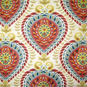 Shiraz-Carnival Framed Red and Blue Fabric by Tempo, Upholstery, Drapery, Home Accent, Tempo,  Savvy Swatch