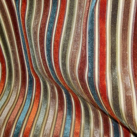 1.6 yards Myriad Spice Regal Striped Cut Velvet Upholstery Fabric by Golding, Upholstery, Drapery, Home Accent, Golding,  Savvy Swatch