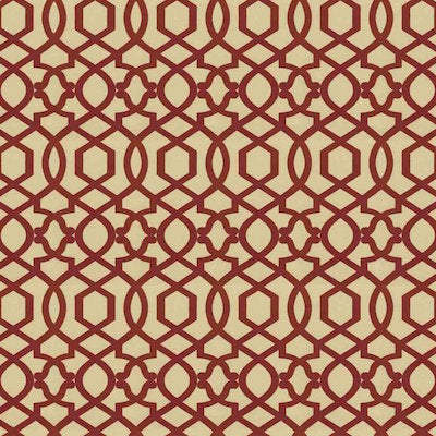 110001 Sultana Lattice Amaryllis Decorator Fabric by PK Lifestyles, Upholstery, Drapery, Home Accent, P/K Lifestyles,  Savvy Swatch
